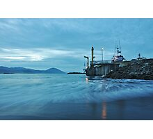 Commercial Fishing Dock Photographic Print