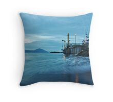Commercial Fishing Dock Throw Pillow