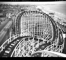 """The Cyclone"" Roller Coaster, Revere Beach - North negative by ngscollection"