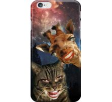 Hipster Kitty and Giraffe iPhone Case/Skin