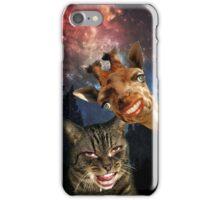 Hipster Kitty and Giraffe iPhone Case/Skin