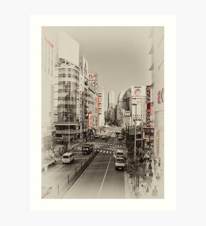 Shinjuku Streetscape Art Print