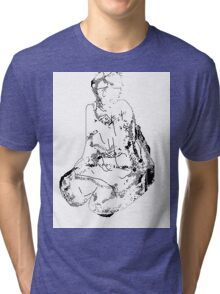 on bended knee Tri-blend T-Shirt