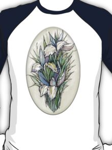 Beautiful iris - watercolor on textured paper T-Shirt