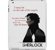 Sherlock: The side of the angels iPad Case/Skin
