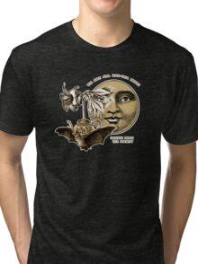 The Lily Tea Bat and the Moon Tee Shirt Tri-blend T-Shirt