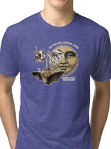 The Lily Tea Bat and the Moon Tee Shirt Tri-blend T-Shirt