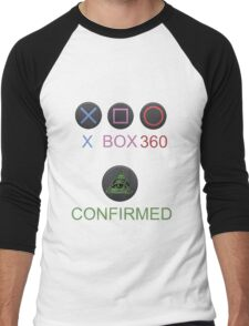 Playstation is a lie !!! Men's Baseball ¾ T-Shirt