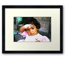 Little Latin Princess Framed Print