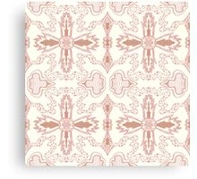 pink gold organic flower Canvas Print