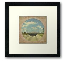 Open Road Collage Framed Print