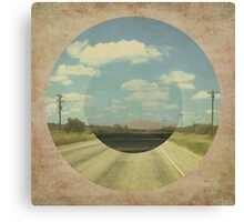 Open Road Collage Canvas Print