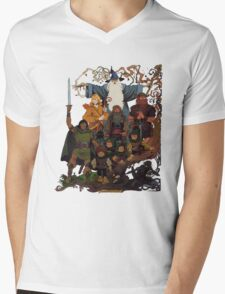 Fellowship of the Ring Mens V-Neck T-Shirt