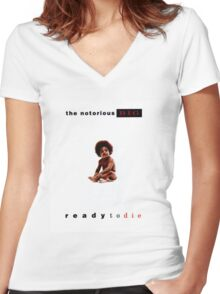 Ready to Die Album Cover Women's Fitted V-Neck T-Shirt