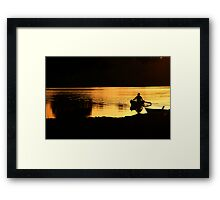 Magic Hour on the Water Framed Print