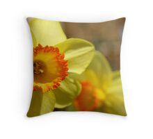 Yellow flower in my garden. Throw Pillow