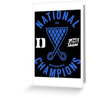 DUKE National Champions 2015 Basketball shirt, hoodie and more Greeting Card