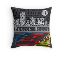 Beacon Hills Typographic Throw Pillow Throw Pillow