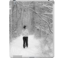 Snowy Walk in the Snowy Woods iPad Case/Skin