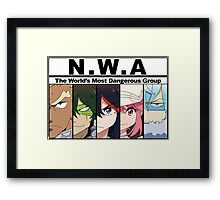 NWA- The world's most dangerous group (Kill la Kill) with color Framed Print
