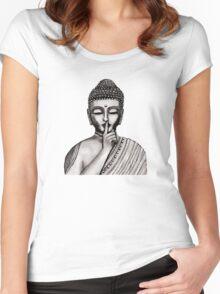 Shh ... do not disturb - Buddha - New Women's Fitted Scoop T-Shirt