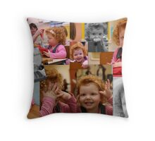 Playschool individual collage Throw Pillow
