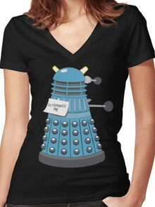 Exterminate Me Women's Fitted V-Neck T-Shirt