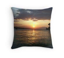 Golden Sunset at Sousa Bay Throw Pillow