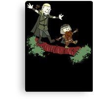 Calvin And Hobbes Lord of The Rings Canvas Print