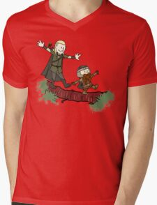 Calvin And Hobbes Lord of The Rings Mens V-Neck T-Shirt