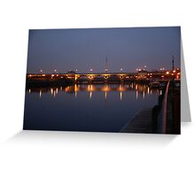The Tees Barrage After Sunset Greeting Card