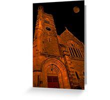 Night Church Greeting Card