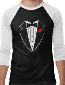 Rose Tuxedo T-Shirt Men's Baseball ¾ T-Shirt