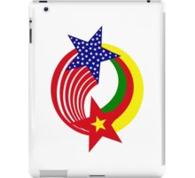 Cameroon American Multinational Patriot Flag Series iPad Case/Skin
