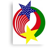 Burkina Faso American Multinational Patriot Flag 2.0 Canvas Print