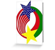 Burkina Faso American Multinational Patriot Flag 2.0 Greeting Card