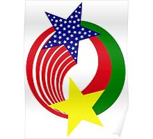 Burkina Faso American Multinational Patriot Flag 2.0 Poster