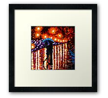 The Night time Lovers Framed Print
