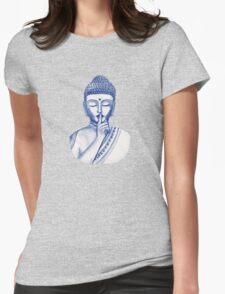 Shh ... do not disturb - Buddha  Womens Fitted T-Shirt
