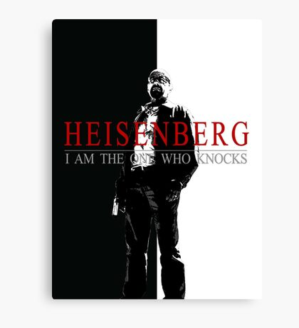 """Heisenber"" Breaking Bad & Scarface Poster Mashup Canvas Print"
