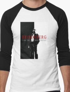 """Heisenber"" Breaking Bad & Scarface Poster Mashup Men's Baseball ¾ T-Shirt"