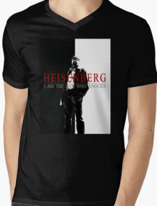 """Heisenber"" Breaking Bad & Scarface Poster Mashup Mens V-Neck T-Shirt"
