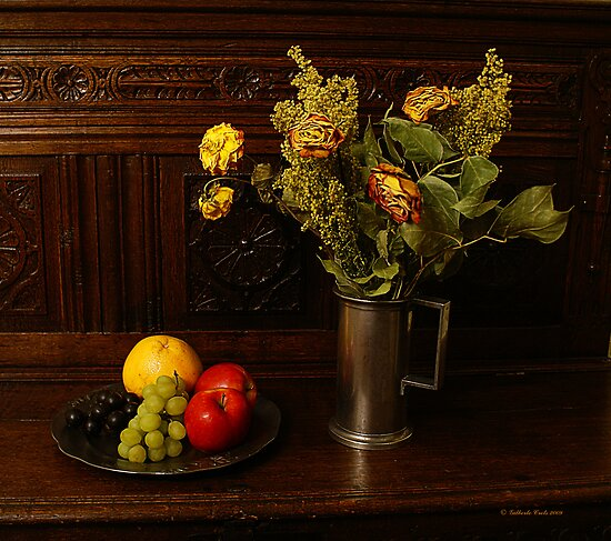 Withered Flowers & Fresh Fruit by Gilberte