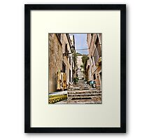 pictures at an exhibition...in  Taormina Framed Print