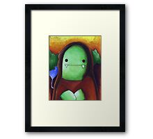 Monster Lisa (#001 of the Monster Imitates Art Collection) Framed Print