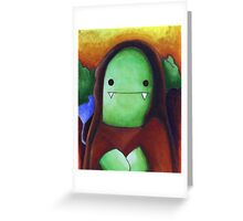 Monster Lisa (#001 of the Monster Imitates Art Collection) Greeting Card