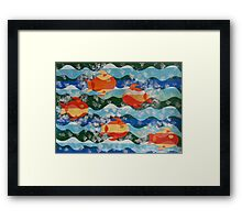 Five Fiery Fish Framed Print