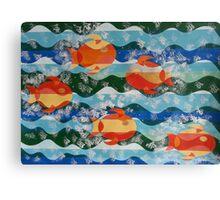 Five Fiery Fish Canvas Print