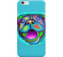 acrylic happy pit bull iPhone Case/Skin