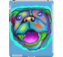 acrylic happy pit bull iPad Case/Skin